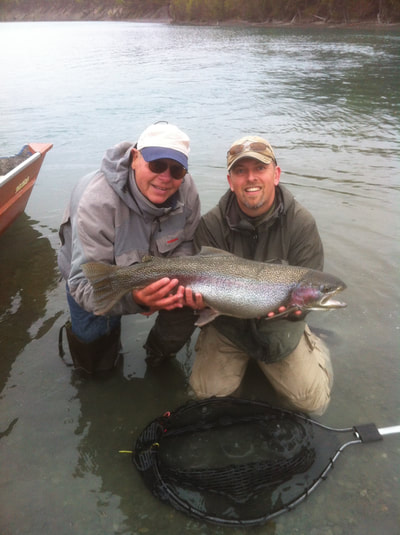 Guided Rainbow Trout Fishing